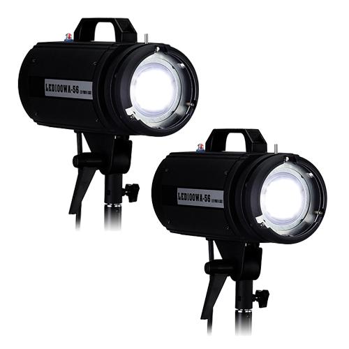 LED100WA-56 Daylight Studio 2-Light Kit For Photo And